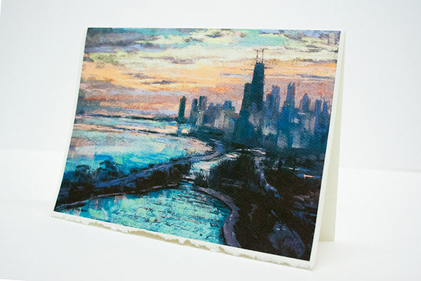 """Morning Drive"" – Chicago Greeting Card"