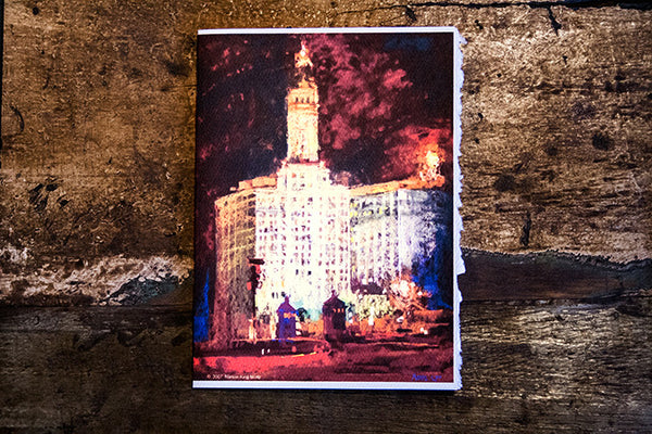 """Nite Lite"" -Chicago Water Tower – Greeting Card"