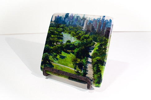 """Above Lincoln Park"" Marble Coaster"