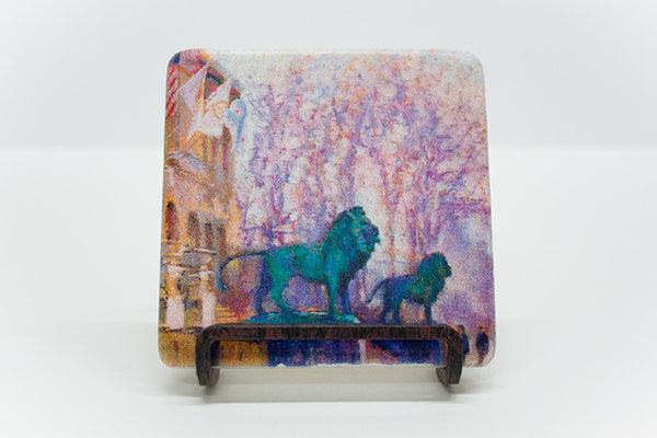 """Breath of Spring"" Marble Coaster"