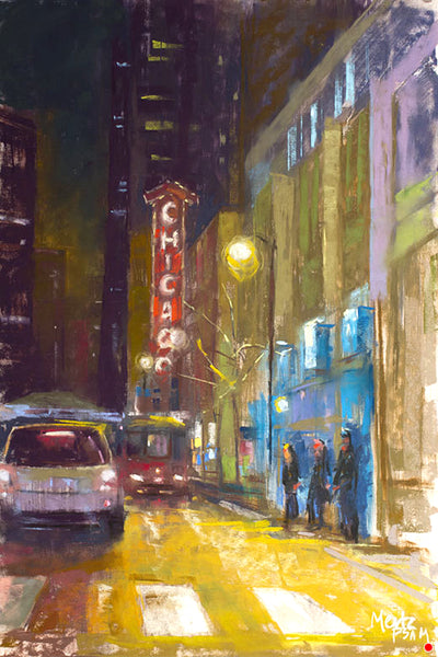 """State Street Nocturne"" Giclee Print"
