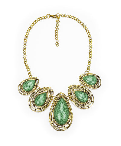 Rain Drop Necklace - Green
