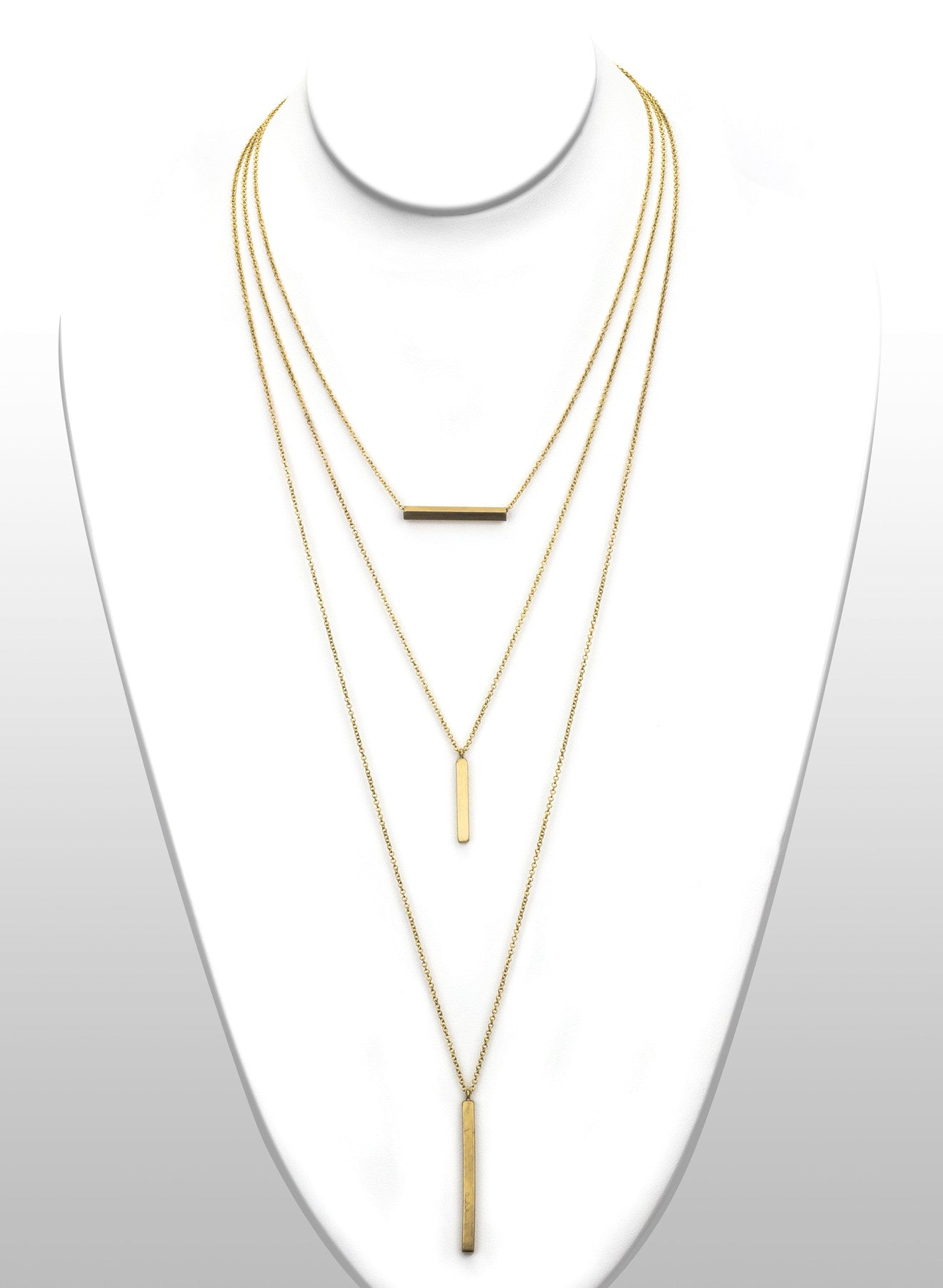 Layered Cubist Necklace