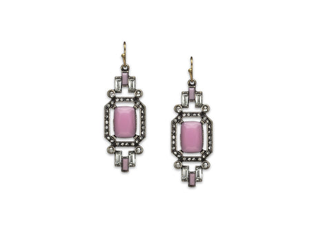 Vintage Pink Drop Earrings