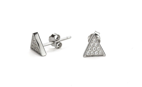 Triolad Silver Stud Earrings