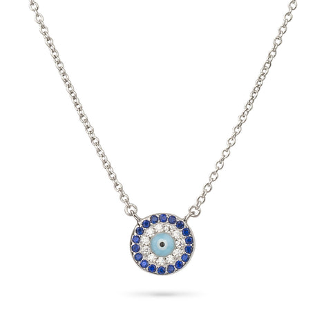 Evil Eye Light Blue Eye Pendant Silver 925