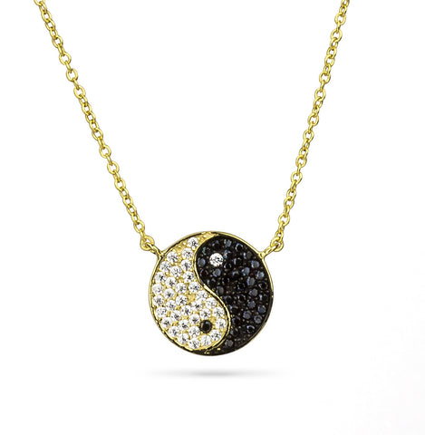 Yin Yang Delicate Pendant Silver 925 - Yellow Color