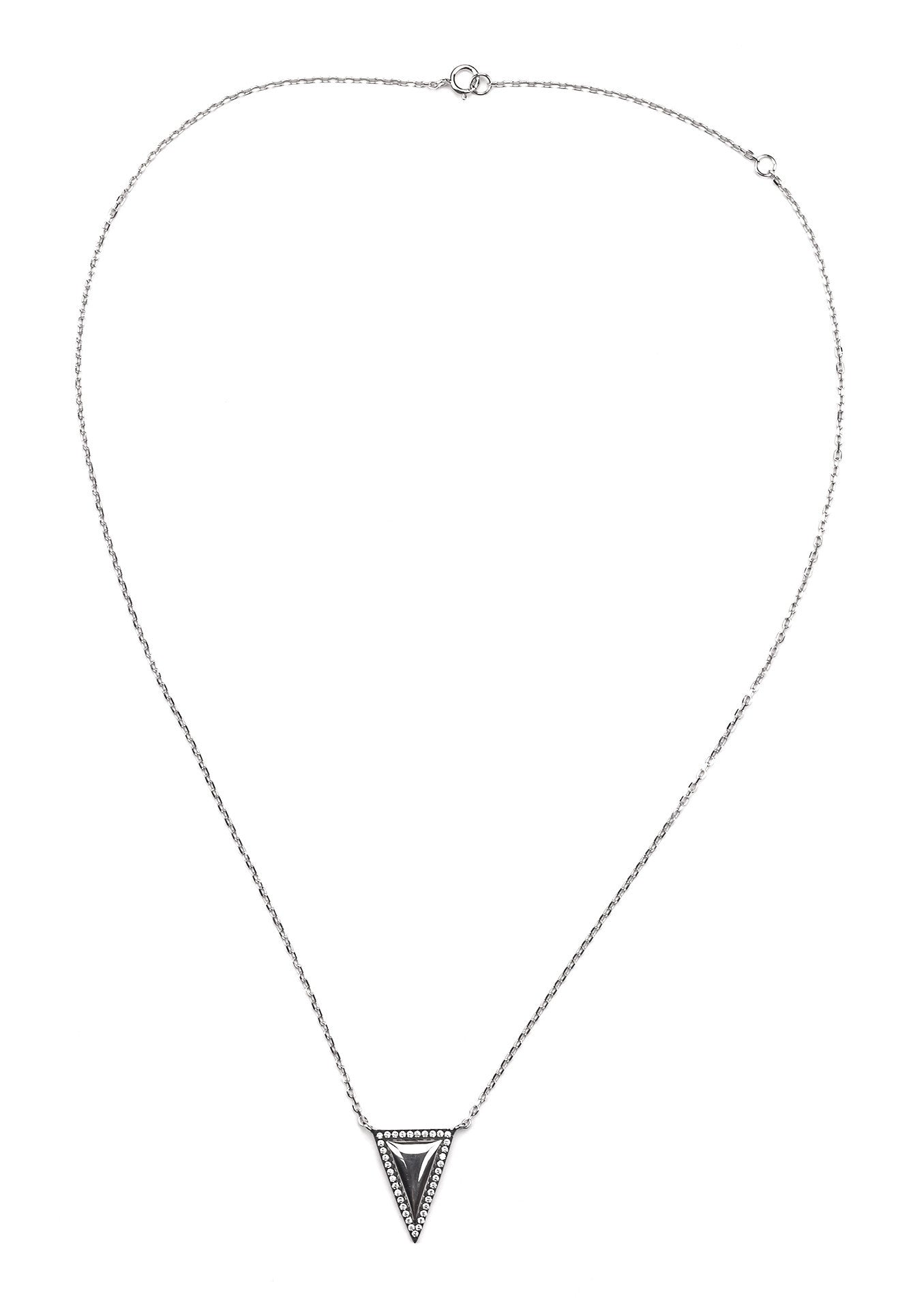 Mirrored Triangle Pendant - Silver 925