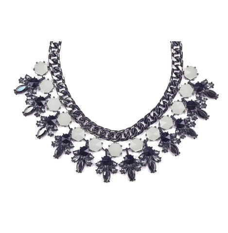Black & White Premium Statement Bib Necklace