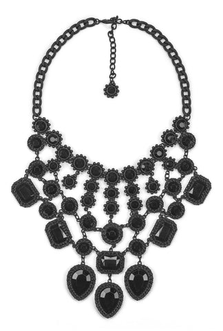 Jackpot Noir Statement Necklace