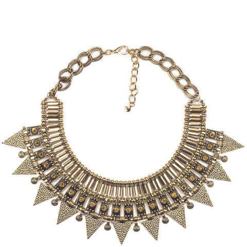 Copper Tone Aztec Necklace