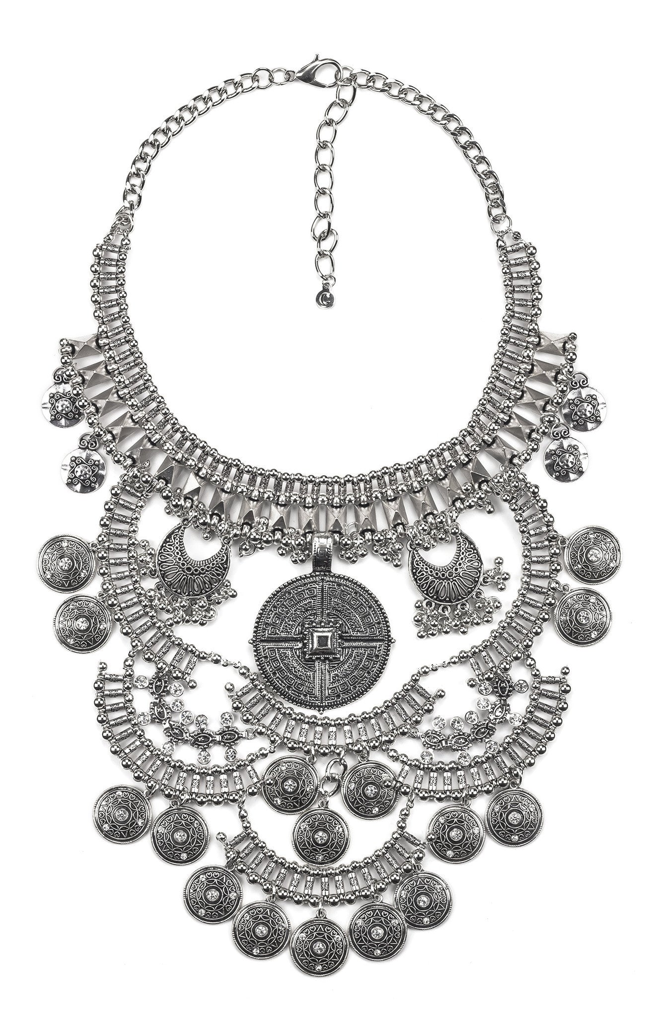 Medieval Armor Statement Necklace