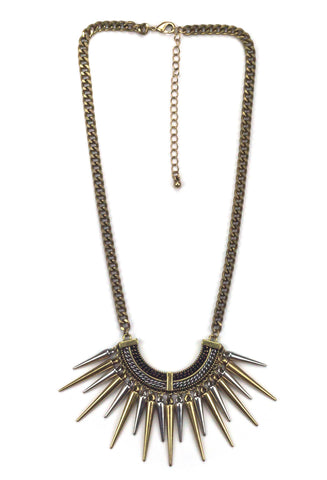 Stylish Spiked Necklace