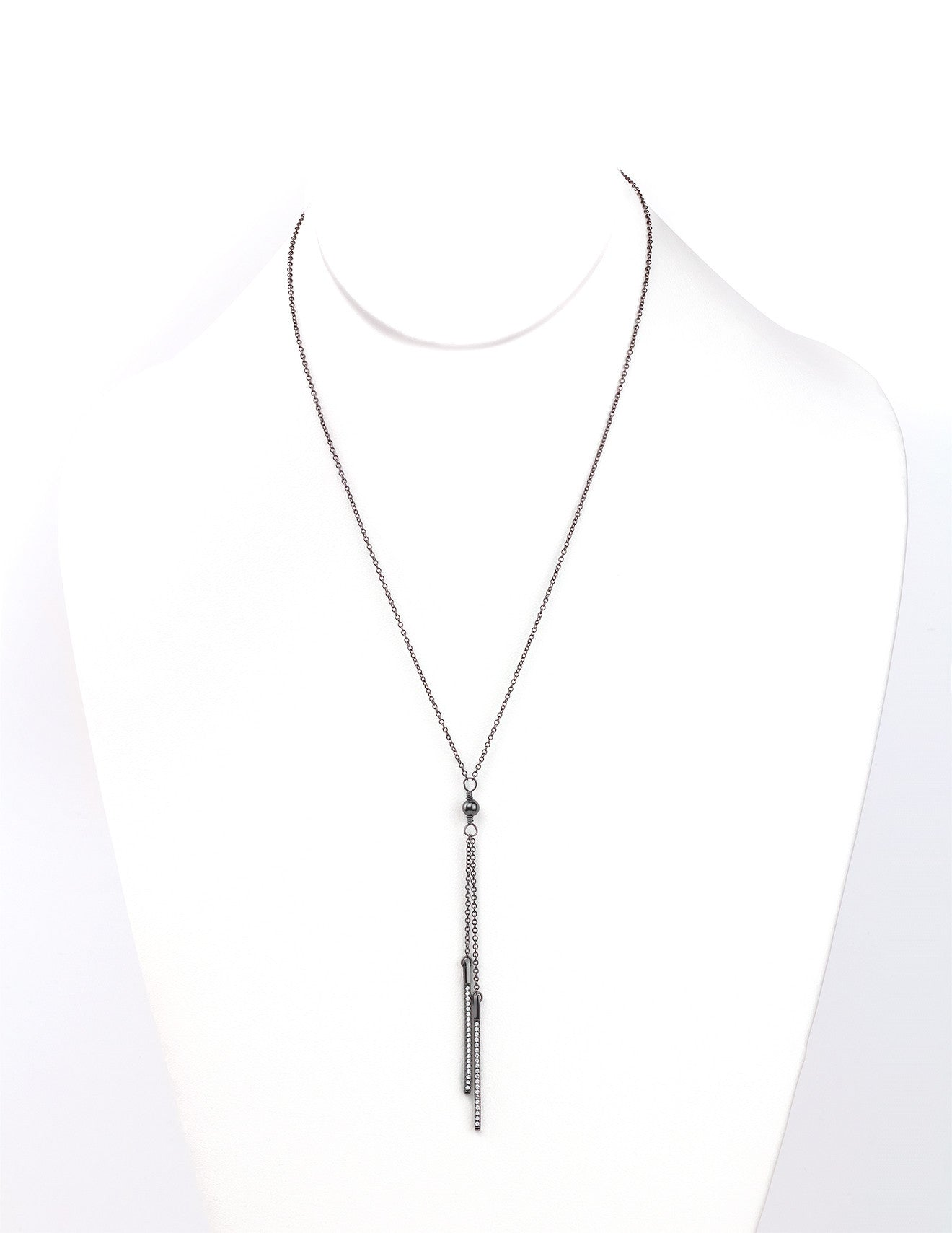 Black Tie Necklace - Silver 925