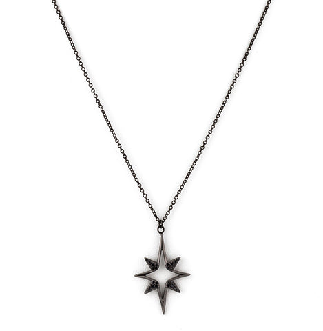 Northern Star Pendant Necklace - Silver 925