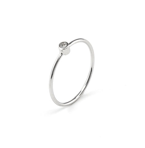 Stackable Ring In Silver 925