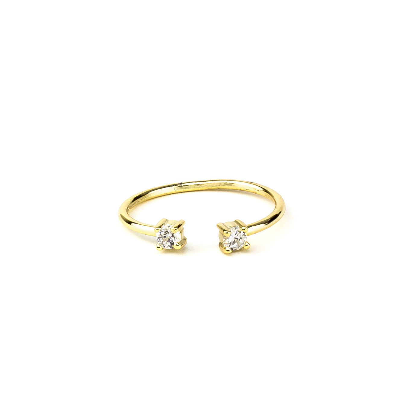 Gold Stackable Ring In Silver 925