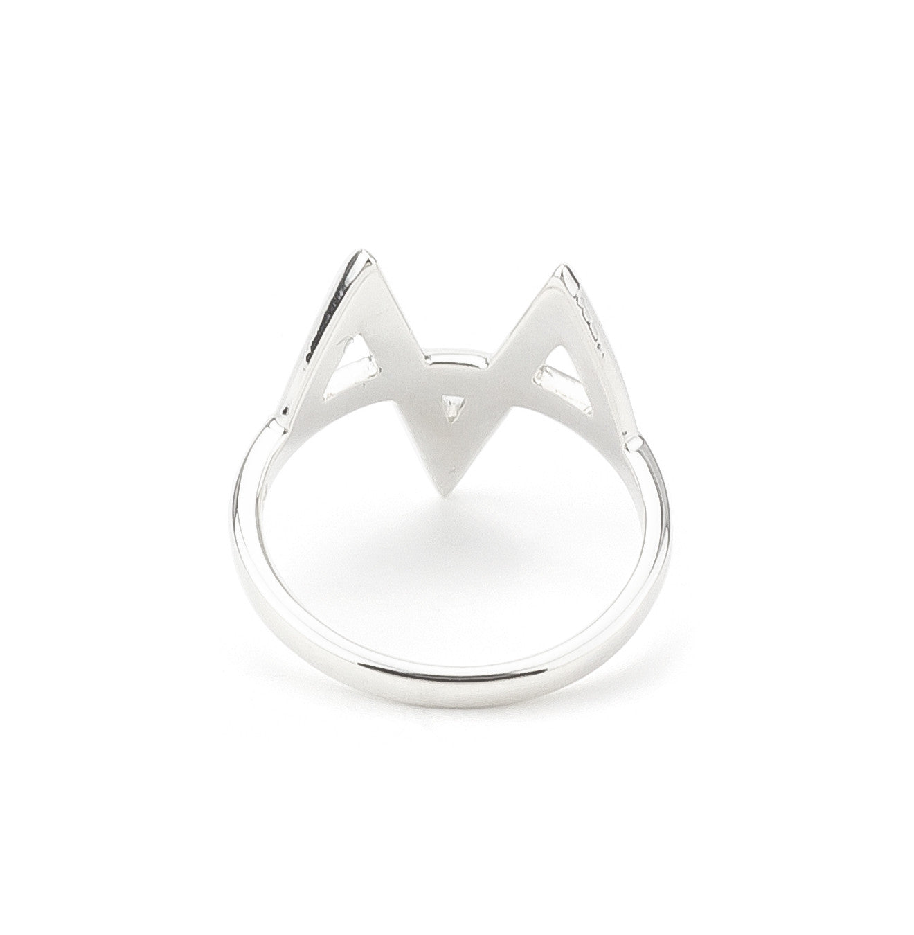 Zig Zag Geometric Statement Ring in Silver 925
