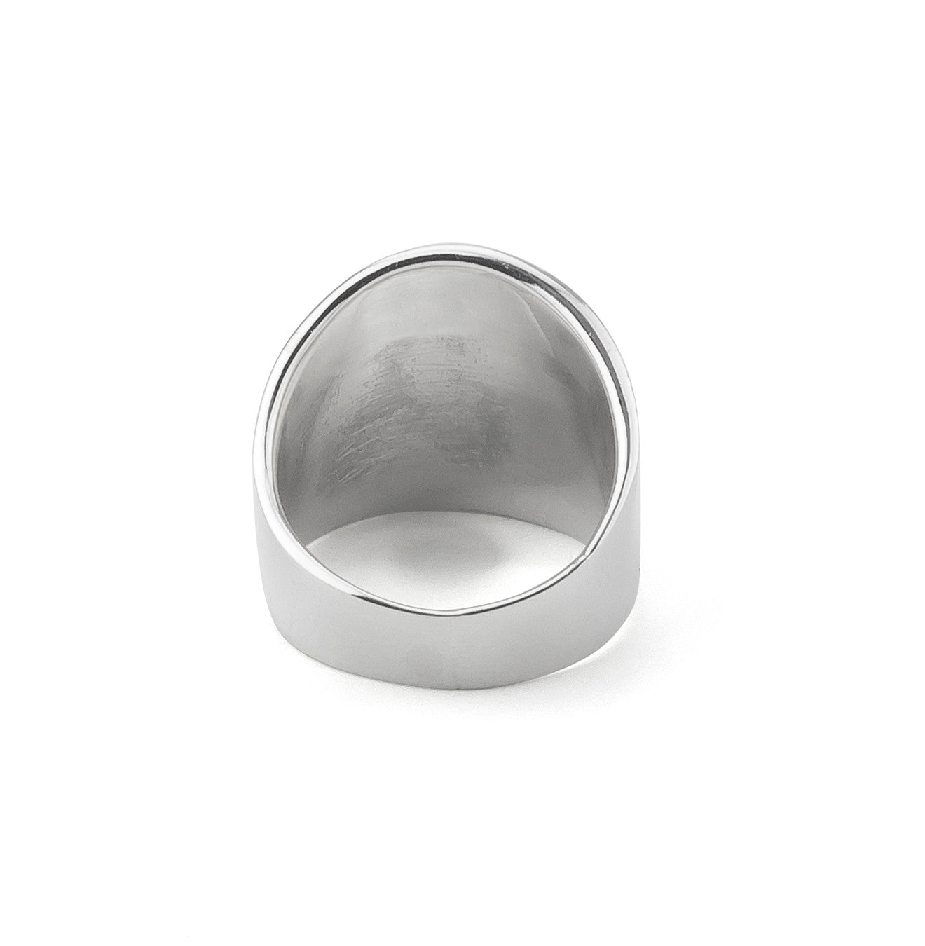Sleek Bold Minimal Statement Ring in Silver 925