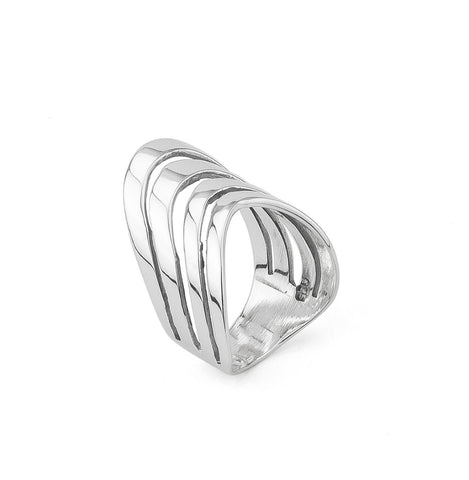 Multi Row Sterling Silver 925 Ring