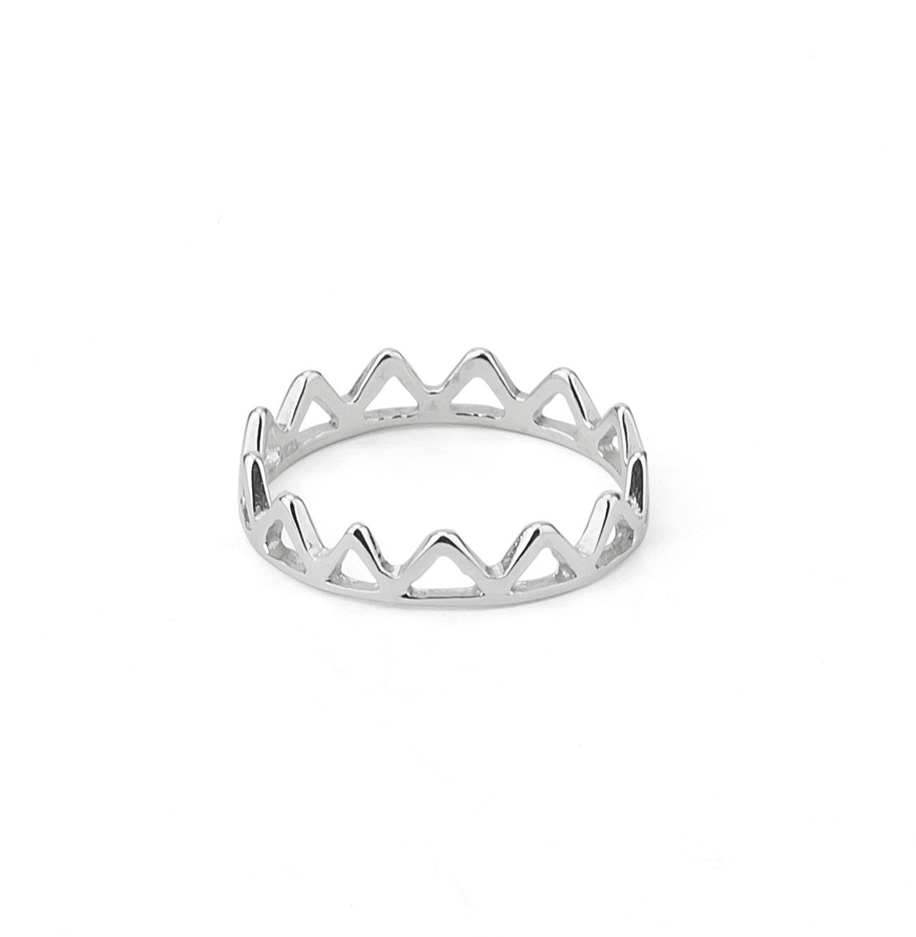Crown Shaped Sterling Silver 925 Ring
