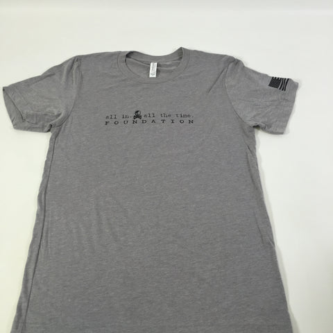 ALL IN Gray Logo Tee - Men's - All In All The Time Foundation