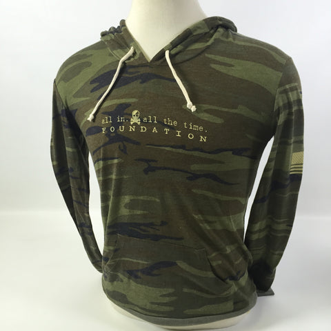 ALL IN Camo Hoodie Shirt - Ladies - All In All The Time Foundation - 1