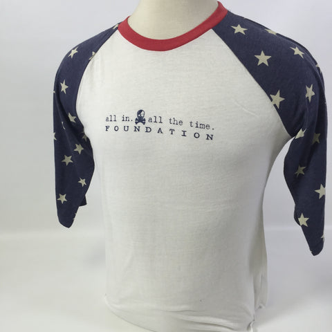 ALL IN Star Sleeve 3/4 Tee - Women's - All In All The Time Foundation