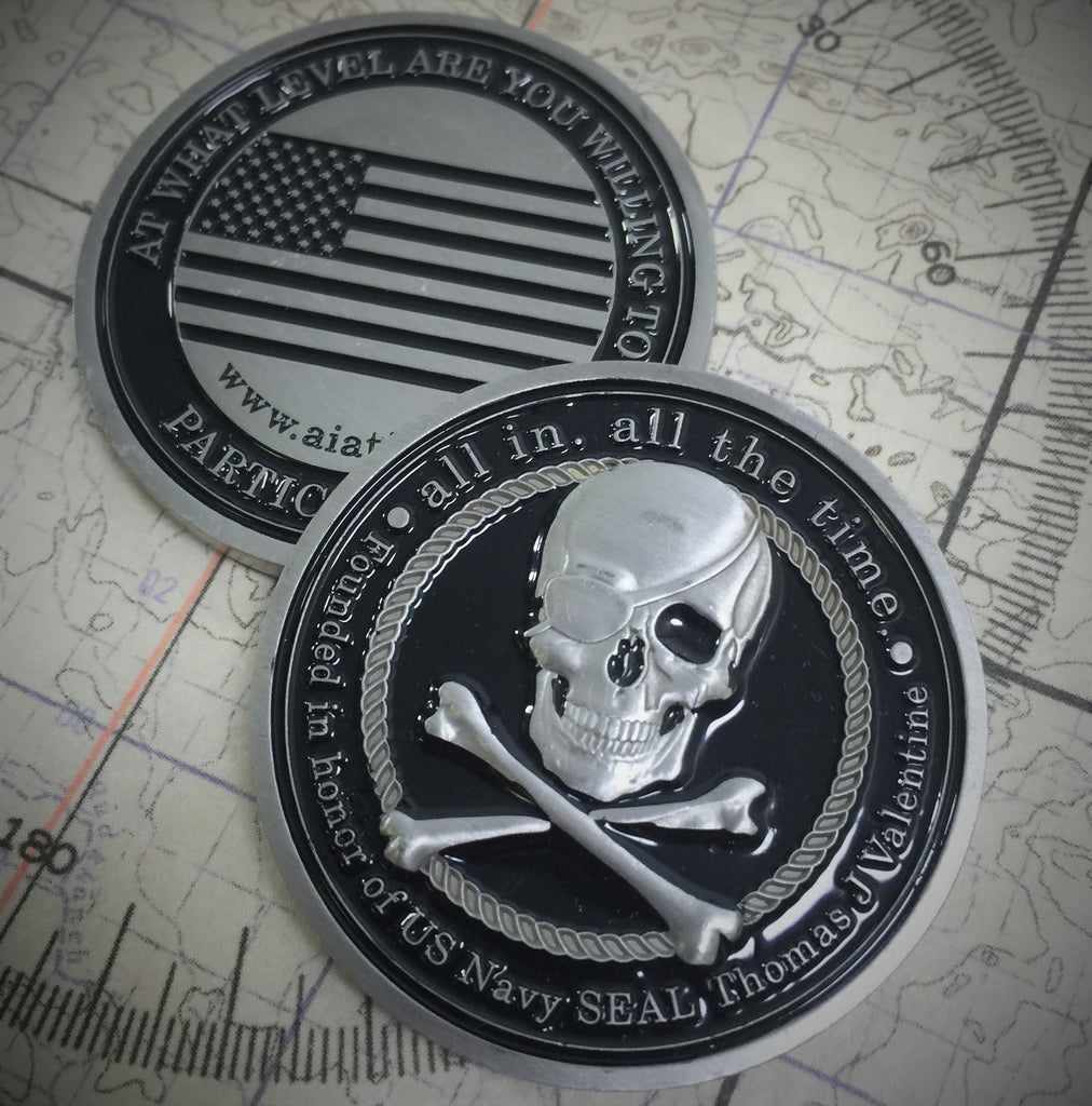 ALL IN Black Challenge Coin