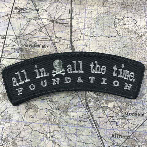ALL IN Logo Rocker Patch - All In All The Time Foundation