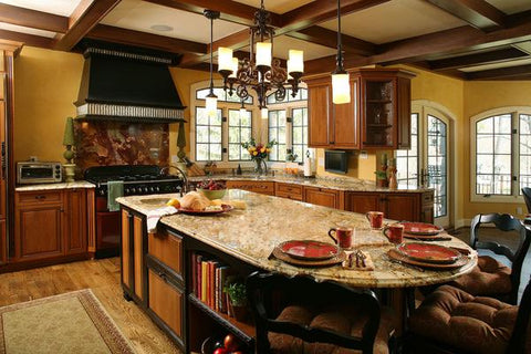 log kitchen design