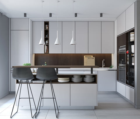 modern kitchen with no clutter