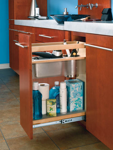 Cabinet Pullout Grooming Organizer for Bathroom/Vanity