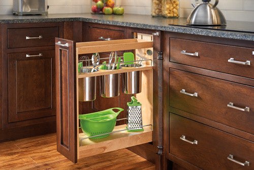 ... Base Cabinet Pullout Organizer With Wood Adjustable Shelves 3