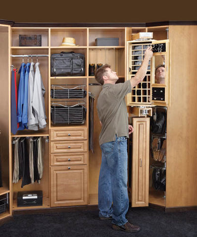 Armoire Organizer for Gentlemens Closet