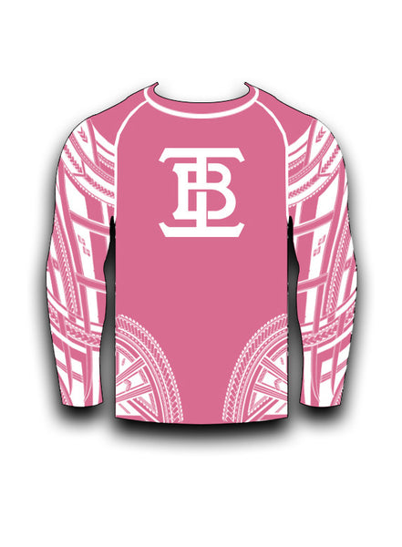 PINK LONG SLEEVE RASHGUARD