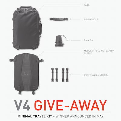 THE V4 MINIMAL TRAVEL-KIT GIVEAWAY