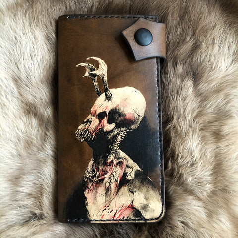 Daemon - Leather Biker Wallet With Artwork by Ruffymutt