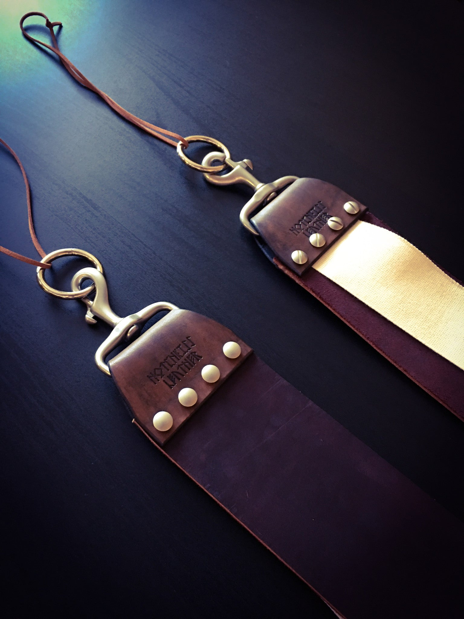 Linen and Latigo Leather Razor and Knife Strop - custom leather