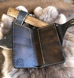 custom leather wallet