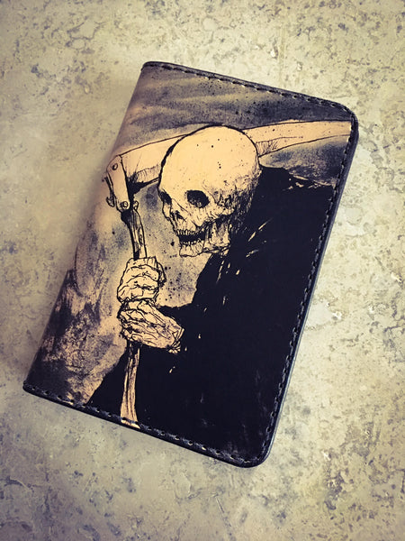 Leather Bifold Wallet with artwork by Ruffymutt - custom leather