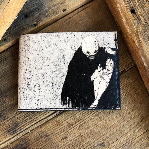 Vampire's Embrace - Leather Bifold Wallet with Artwork by Ruffymutt