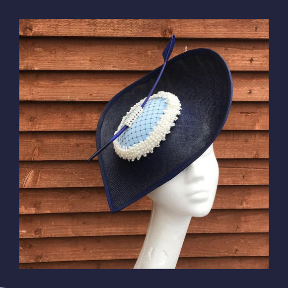 Navy Fascinator hats