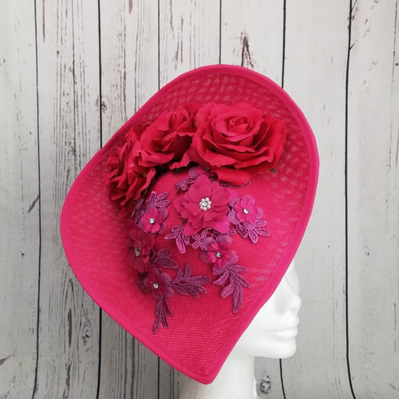 Pink and Magenta Fascinator - My Fascinators