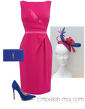 Royal blue and pink fascinator - Embellish Moi  - 3