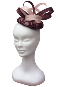 Pink and wine fascinator - My Fascinators