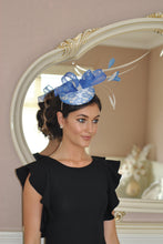Bespoke Blue and cream Fascinator - LadyVB   s.r.o - 2