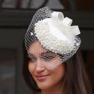 Cream and pearl fascinator - My Fascinators