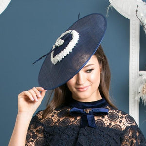 Navy and Pearl Fascinator - My Fascinators
