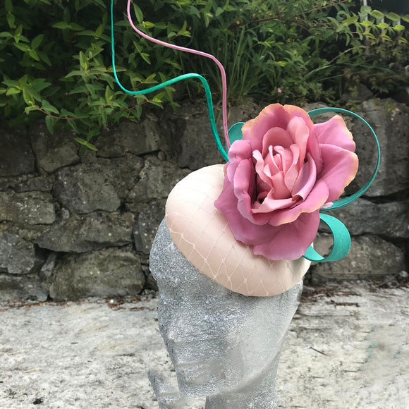 Pink and green fascinator - My Fascinators
